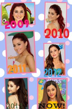 Timeline of Ariana 2009-2014! Repost if you love her too! :)