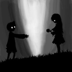 Fancy Fiction — Someone: Video games aren't art. Me: Dark Fantasy Art, Dark Art, Limbo Game, Inside Limbo, Best Indie Games, Red Riding Hood Wolf, Creepy Games, Little Misfortune, Best Crossover