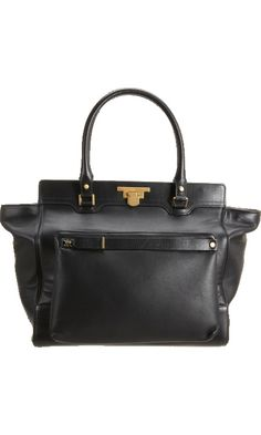 Lanvin Miss Sartorial Leather Shopper with Detach Bag