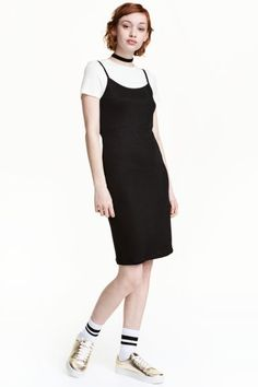 Sukienka z topem - Czarny - ONA | H&M PL 1