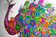 Peacock Drawing Colorful Pretty Peacock 3 Original by ParadoxxArt