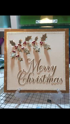 Die Cut Christmas Cards, Christmas Card Crafts, Xmas Cards, Christmas 2019, Handmade Christmas, Greeting Cards, Cards Diy, Christmas Ideas, Stamps By Chloe