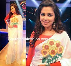 amala paul white saree