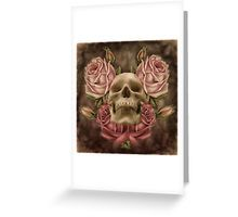 Skull And Rose's 2 Greeting Card