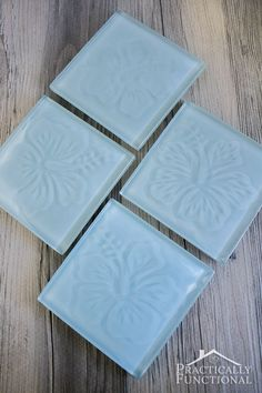 How To Make Etched Glass Tile Coasters Bloggers Best