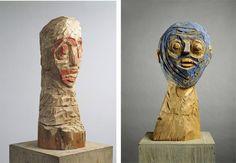 Left: Georg Baselitz – Ohne Titel, 1982-83 / Right: Georg Baselitz – Blauer Kopf 1.III.1984