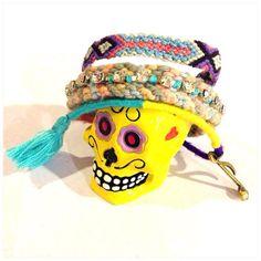 Pastel Friendship Bracelet - Bracelet with Tassel - Multi Strand Bracelet on Etsy, ฿533.00