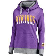 c6946b8e663b Women s Minnesota Vikings Pro Line Heathered Purple Team Essentials  Latitude Clean Color Tri-Blend Pullover Hoodie