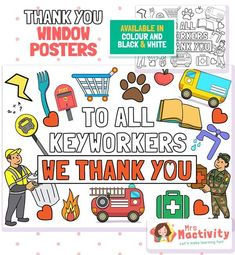 Key Workers Thank You Posters | Mrs Mactivity
