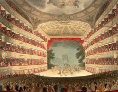 Opera House Haymarket edited - Her Majesty's Theatre - 1808 Ackermann's Microcosm of London Pantomime, Regency Romance Novels, London History, Theatre Design, Abandoned Houses, Abandoned Castles, Abandoned Mansions, Abandoned Places, Regency Era