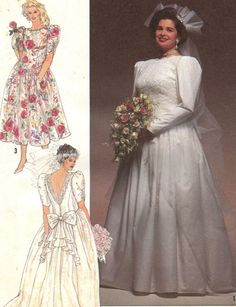 Sewing patterns wedding dresses plus size