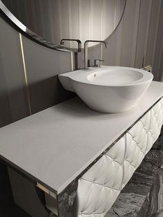 Italian Bathroom Furniture Collection by Branchetti Small Bathroom Mirrors, Asian Bathroom, Modern Bathroom Cabinets, Bathroom Pictures, Bathroom Furniture, Bathroom Vanities, Master Bathroom, Bad Inspiration, Bathroom Inspiration