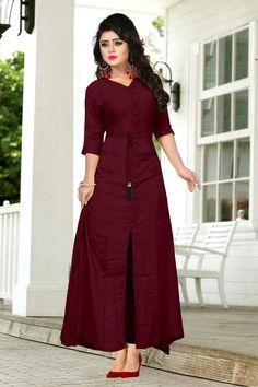 Kurti designs - (If Stitching is not required) Kurti Designs Party Wear, Kurta Designs, Blouse Designs, Kurti Patterns, Ethnic Dress, Indian Designer Wear, Designer Dresses, Anarkali, Pakistan