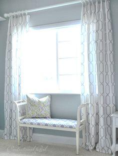 diy: ring top window panels