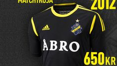 AIK's home colours are black and yellow, AIK's crest is dark blue (not black), yellow and gold. Creator of the crest was Fritz Carlsson-Carling, a runner and football player who won a contest where the award was to design a new crest for AIK. He wanted the crest to convey four basic values: tradition, force, glory and joy. Football Shirts, Football Players, Kristian, Black N Yellow, Dark Blue, House Colors, Colours, Sweatshirts, Gold