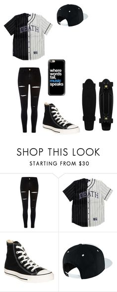 """""""Untitled #123"""" by darksoul7 ❤ liked on Polyvore featuring River Island, Converse, NIKE and Casetify"""