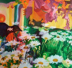 """Margaritas' fields"", oil on canvas 190x190 cm 2013"