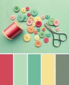 Vintage Pale Green - Shabby Chic Colour Palette