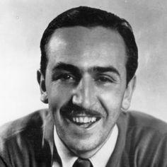 Kuvassa on Walt Disney joka keksi Aku Ankan