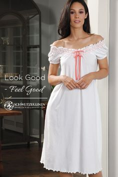 5ef336890c The lure of Schweitzer Linen nightwear is beauty and glamour beyond  compare. Any woman who