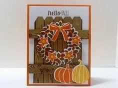 Make It Monday - Stampin' Up! Wondrous Wreath Hello Fall Card (via Bloglovin.com )