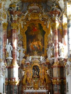 The Pilgrimage Church of the Scourged Saviour on the meadow - abbreviated Wieskiche - was built by the brothers Johann Baptist and Dominic Zimmermann in the years 1745 to 1754. - Germany