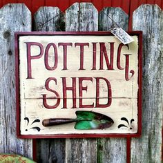 """Potting Shed"" by Prairie House Primitives."
