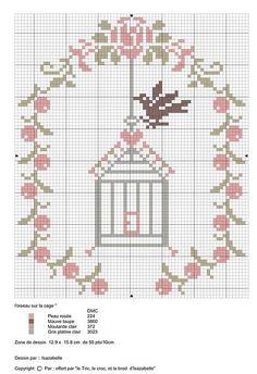 59 best ideas for bird cage craft cross stitch Cross Stitch Boards, Mini Cross Stitch, Cross Stitch Animals, Cross Stitch Flowers, Cross Stitching, Cross Stitch Embroidery, Embroidery Patterns, Cross Stitch Designs, Cross Stitch Patterns