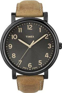 Timex Premium Originals Black Tan Mens Watch T2N677:Amazon:Watches