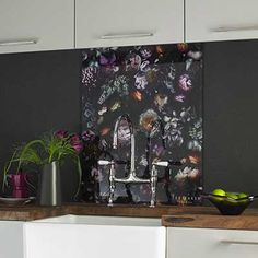 Ted Baker's vintage-inspired glass 200mm x 250mm ArTile Shadow Floral tiles will add a refined finish to your home. They can be co-ordinated with Ted's VersaTile range.