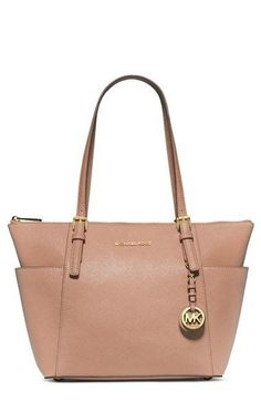 8ff301032714 MICHAEL Michael Kors  Jet Set  Leather Tote available at  Nordstrom Cheap Michael  Kors