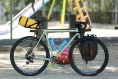 サーリーのストラグラー組んでみました。   広島の自転車ショップ。ファットバイク・シングルスピード・ロングテールバイク・シクロクロス・ハンドメイドフレームなど。   Grumpy(グランピー)