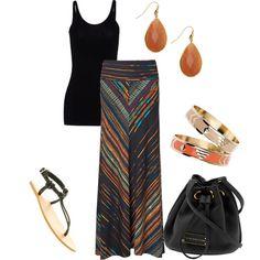 Phase Eight Arizona Striped Maxi-I need this skirt!!