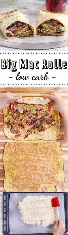 Das Rezept für unsere Low-carb-Big-Mac-Rolle ist ganz leicht, und genau das Richtige an Tagen, an denen du auf Fast Food nicht verzichten kannst.