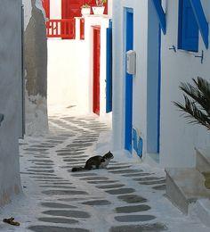Mediterranean #street, Mikonos, #Greece
