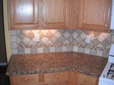 Granite Countertops W Tile Backsplash