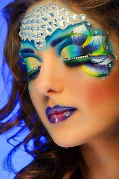 """""""Pretty"""" : lovely artistic flair in this: love! #faceart #jewelexi #makeup"""