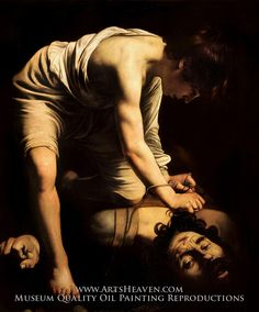 Caravaggio David and Goliath Painting Reproduction Art On Canvas