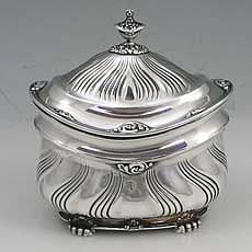 Tiffany & Co. Antique Sterling Silver Tea Caddy.  Tea was Expensive and it needed a Special container usually with a Lock