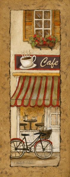 Village Café by Charlene Olson 8x20 in. Art Print