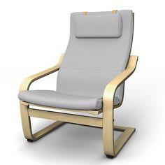 Poäng, Sesselbezüge, Regular Fit diesen Stoff anwenden Panama Cotton Silver Grey