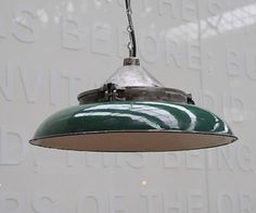 Enamel shade with a burnished cast iron gallery Pendant Lamp, Cast Iron, Enamel, Shades, Ceiling Lights, Lighting, Gallery, Interior, Beautiful