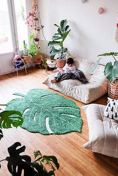 Il fallait que je vous montre mon nouveau tapis pour lequel je suis totalement tombée in love… Amoureuse d'un tapis..