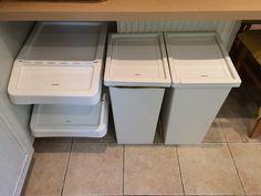 Ikea Garbage Sortera, Müll Sortieren, Recycling Station Recycling Storage, Recycling Station, Storage Room, Storage Organization, Hotel Housekeeping, Junk Mail, Mudroom, Sorting, Laundry Room