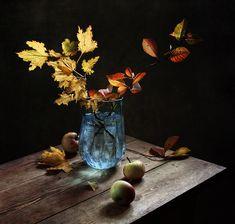 Autumn in the blue vase, still life by Tatiana Eremeeva on LensArt.ru