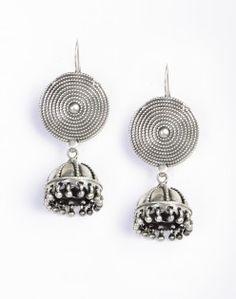 Silver Anusuya ES 1682 Jhumka Earrings
