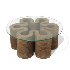 """thenorthelevation: """" FRANK GEHRY coffee table Easy Edges, Inc. Canada / USA, c…"""