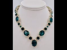 Dressy Emerald City Necklace (lots of bezels) ~ Seed Bead Tutorials