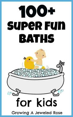 100 SUPER FUN baths for kids! This is the ULTIMATE bath time resource including 50 play recipes 30 learning activities and so much MORE! Craft Activities For Kids, Infant Activities, Learning Activities, Crafts For Kids, Time Activities, Preschool Ideas, Best Bath, Toddler Fun, Baby Kind