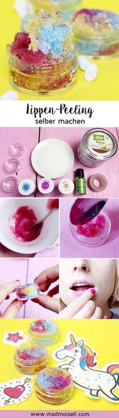 DIY Lippenpeeling selber machen mit Zucker und Kokosöl – So geht's!